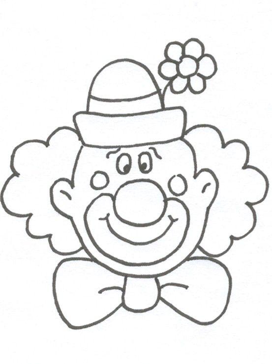 Carnival Masks Clown Clown Gezichten Kleurplaten Carnaval