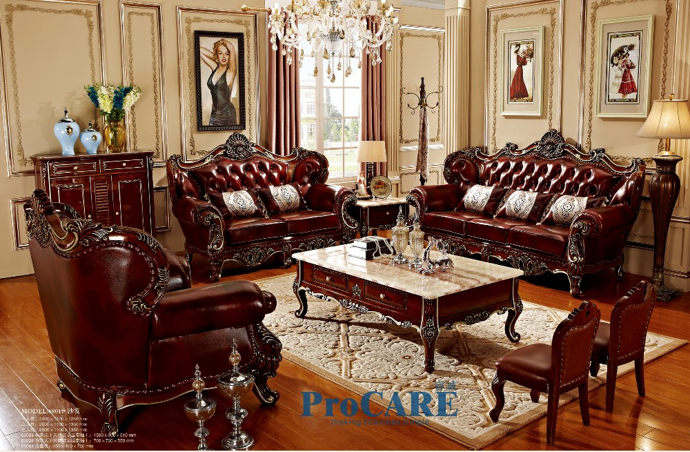 Luxury 3 Different Sets Red Solid Wood Genuine Leather Sofas Set Living R In 2020 Living Room Decor Rustic Modern Living Room Furniture Sets Living Room Sets Furniture #reasonable #living #room #sets