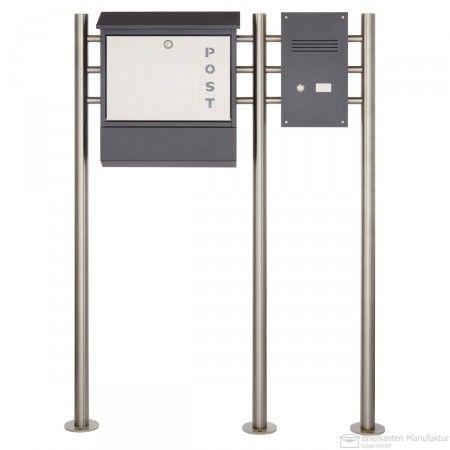 heibi standbriefkasten 43839 mit klingel sprechstelle. Black Bedroom Furniture Sets. Home Design Ideas