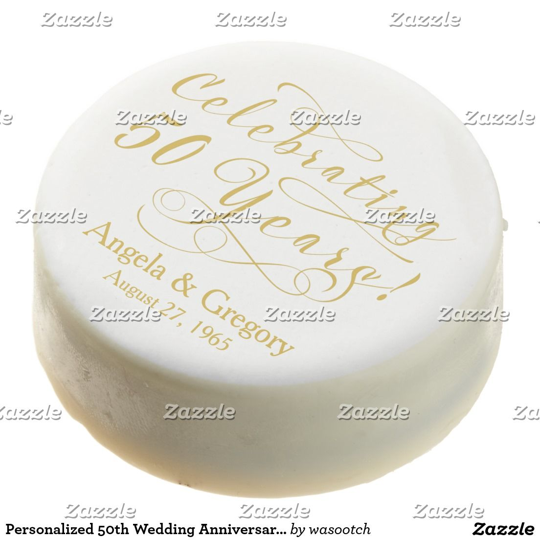 Personalized 50th Wedding Anniversary Gold White Chocolate Covered ...