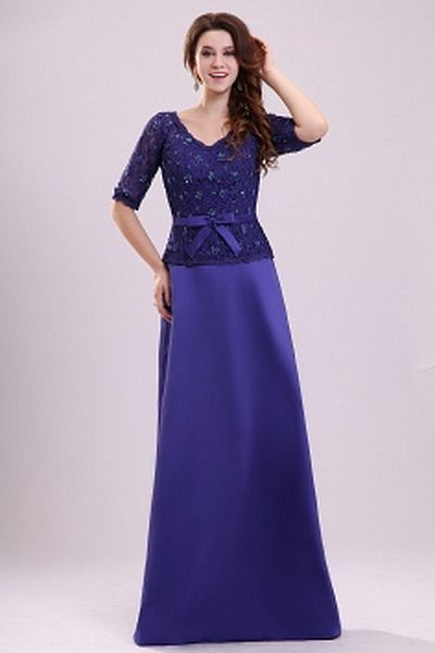 Lace Purple A-Line Party Dress ted2239 - SILHOUETTE: A-Line; FABRIC: Lace; EMBELLISHMENTS: Beading , Lace; LENGTH: Floor Length - Price: 157.8600 - Link: http://www.theeveningdresses.com/lace-purple-a-line-party-dress-ted2239.html