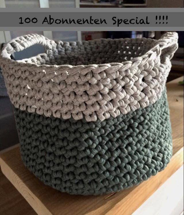 100 abo special k rbe korb h keln aus zpagetti textilgarn h kel taschen pinterest. Black Bedroom Furniture Sets. Home Design Ideas