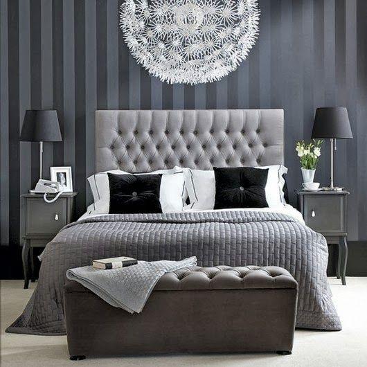 Modèle déco chambre noir et blanc CHAMBRE A COUCHER Pinterest - modele chambre a coucher