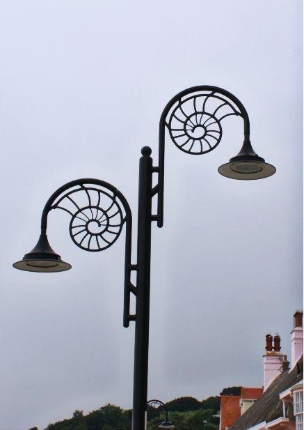 Ammonite Streetlight - Lyme Regis | PASSION FOR FOSSILS ...