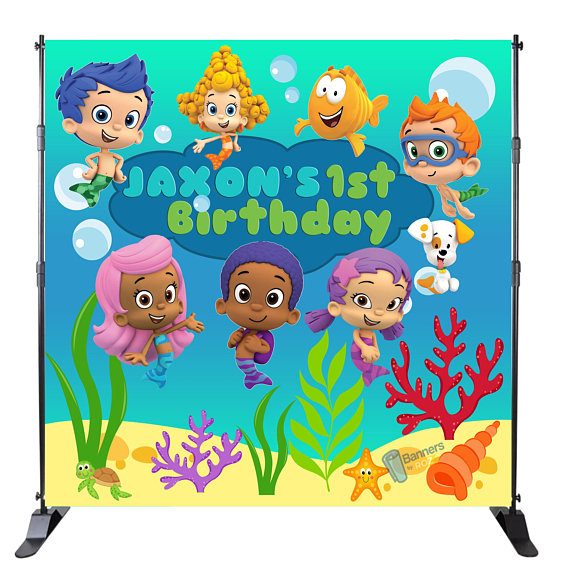 Bubble Guppies Birthday Banner Personalized Party Decoration