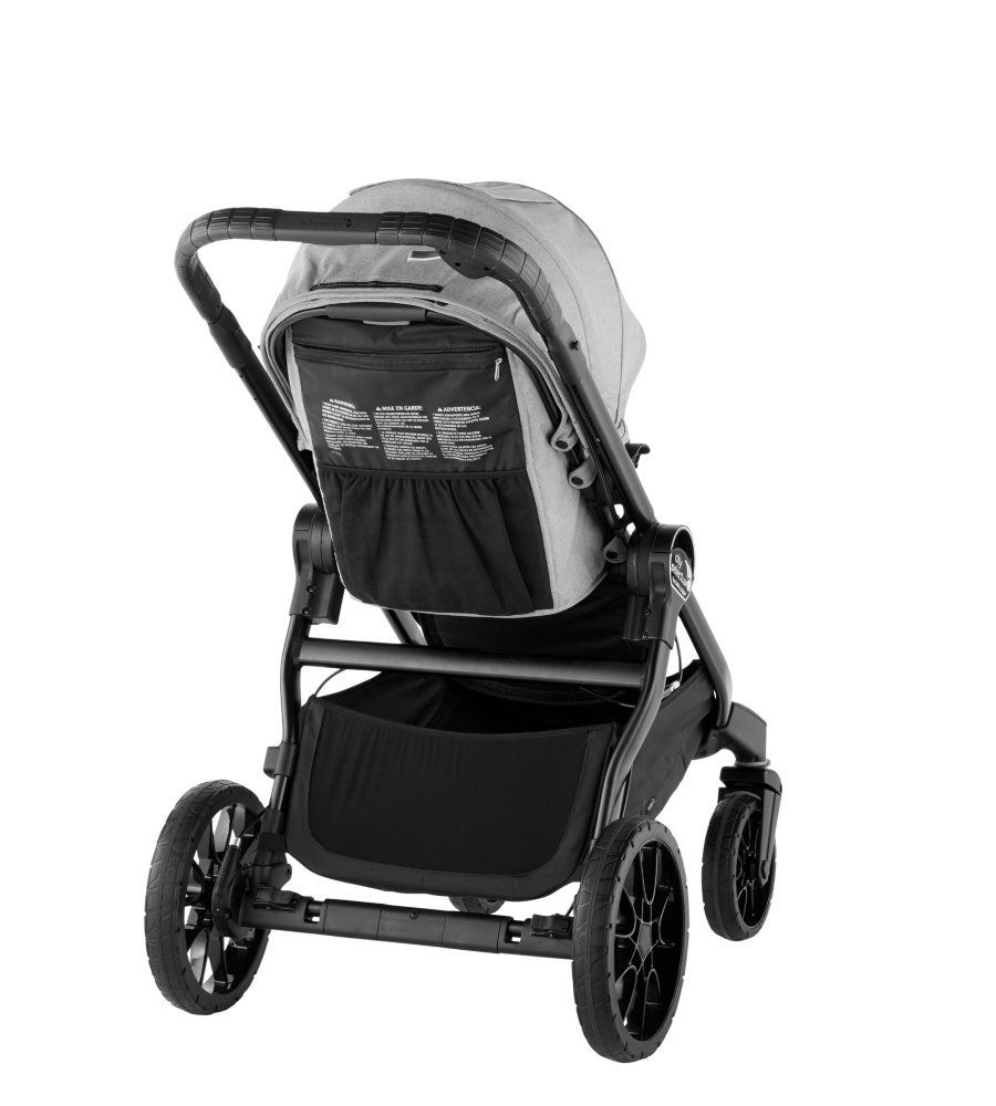 Baby Jogger City Select Lux Twin Tandem Double Stroller with Second Seat Slate