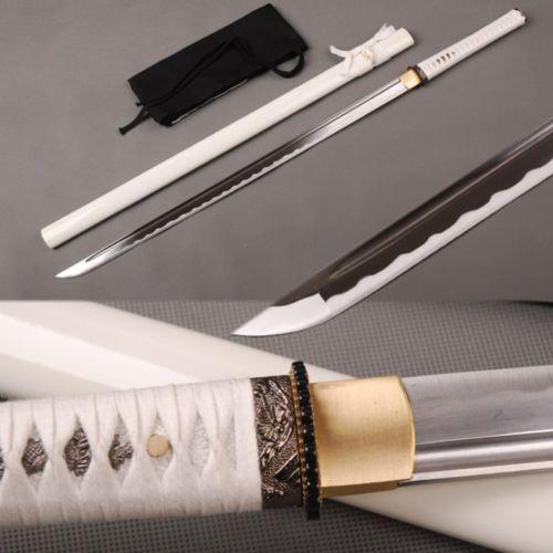 Japanese Famous Ninja Sword Carbon Steel Handmade Samurai Straight