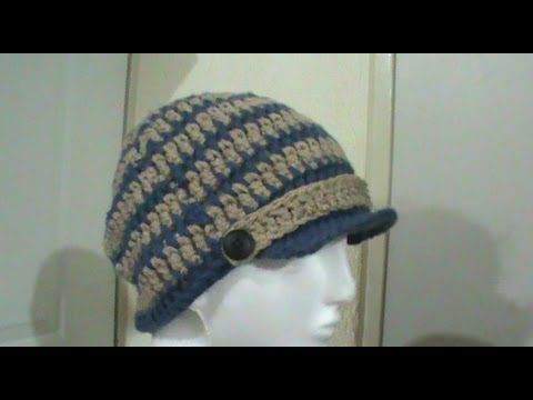 Gorro para niño   hombre tejido a crochet TUTORIAL  7828091f2b6