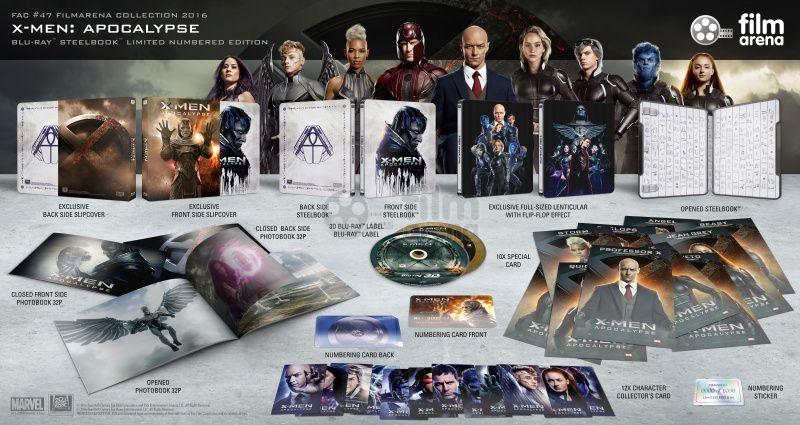 Fac 47 X Men Apocalypse Fullslip Lenticular Magnet 3d 2d Steelbook Limited Collector S Edition Numbered Blu Ray 3d Blu Ray X Men Blu Ray Apocalypse