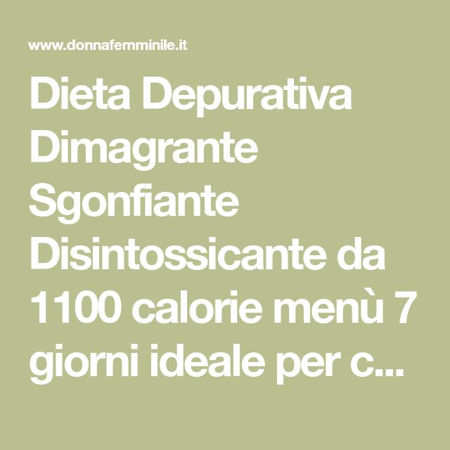 dieta di 1100 calorie al giorno