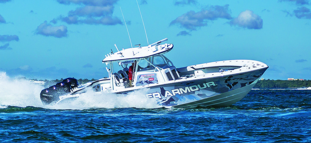Yellowfin s new Carbon 39 weighs substantially less than the