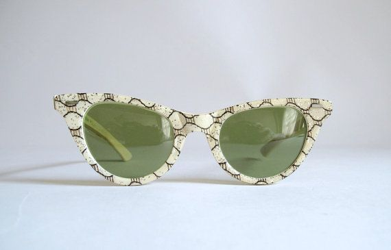 Vintage 1940s 50s Cool-Ray Polaroid Confetti Sunglasses