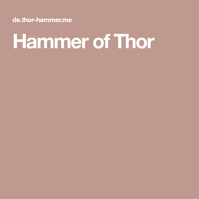 benefits of hammer of thor in pakistan hammer of thor in pakistan