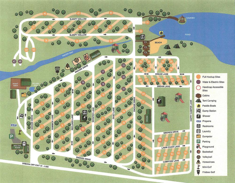 Park Map LAZY ACRES RV PARK in 2020 Rv parks, Park