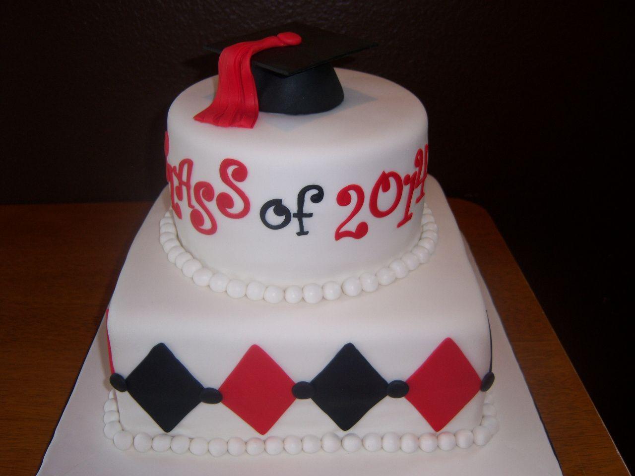 Graduation Cake Fondant With Diamonds Shape Applications