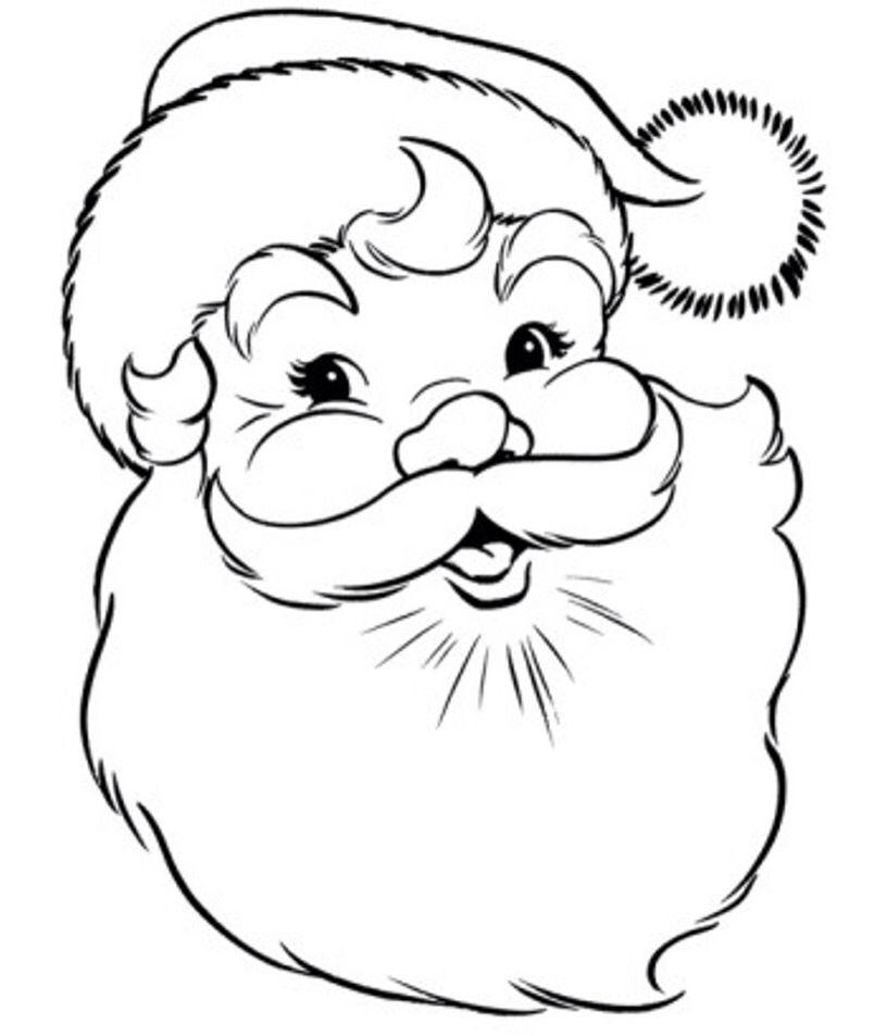 Santa Claus - Colouring In Stencil | Coloriage noel ...