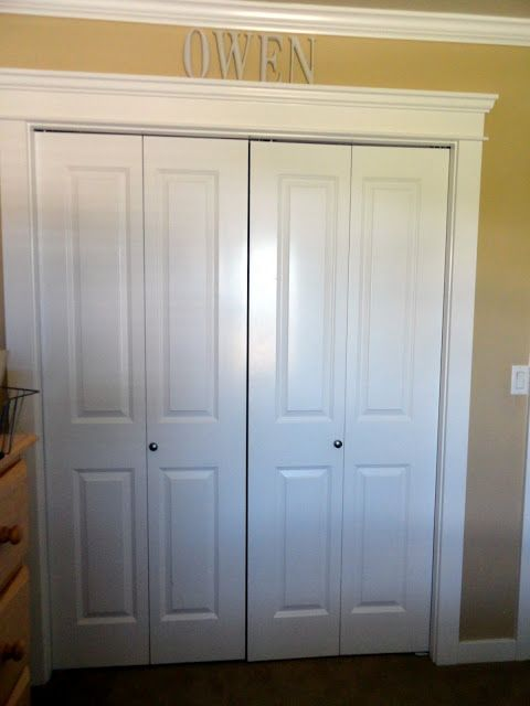 Trim Around The Bifold Closet Doors.