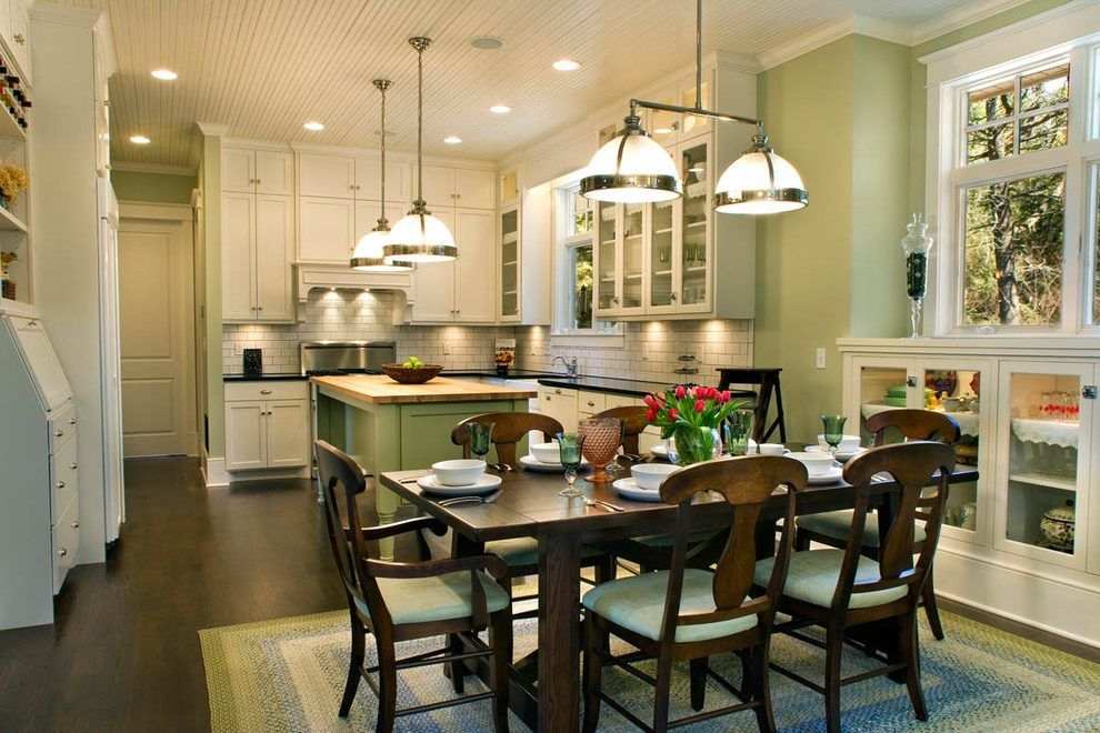 Willow Green Kitchen Traditional With Wood Trim Frosted Glass