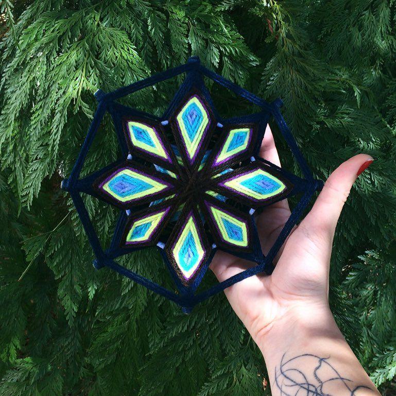 A Simbologia Por Tras Da Mandala Tecida Com Base No Olho De Deus