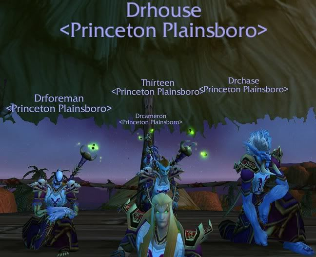 Princeton Plainsboro Medical PVP Team: ah, the good old days of warcraft