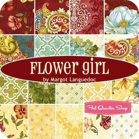 Flower Girl Fat Quarter BundleMargot Languedoc for Henry Glass Fabrics - Fat Quarter Bundles   Fat Quarter Shop