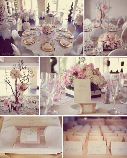 Lovely Pink And Light Purple Wedding Reception
