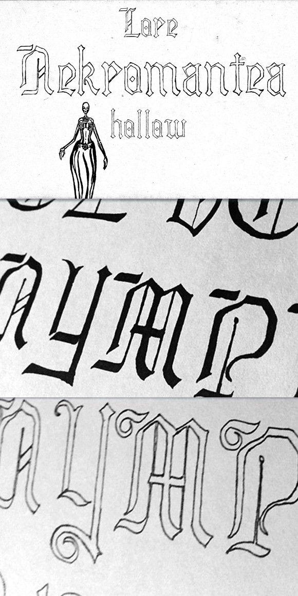 Lore Nekromantea Hollow  Blackletter Fonts  $13 00