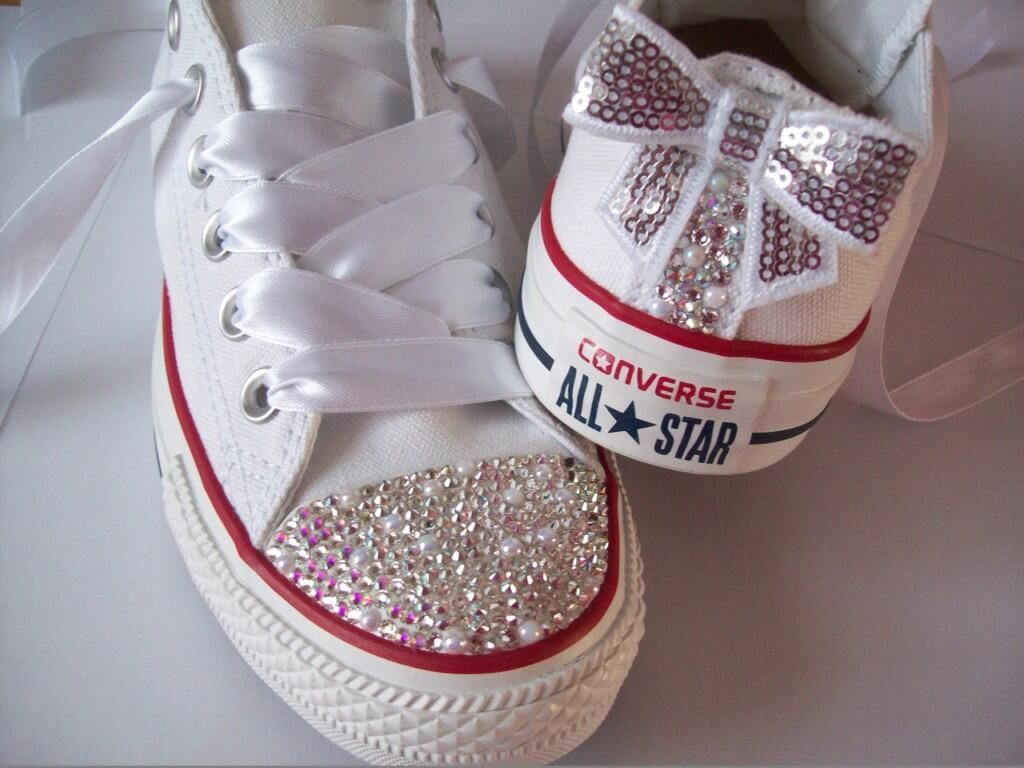 9589455a8c87 Converse Shoes · Dress Wedding · Swarovski Pearl Mix Converse!