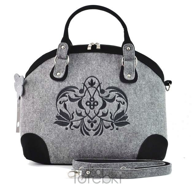 Torebkatorba Kuferek Z Filcu Folk Seka Tulipany 3525997173 Oficjalne Archiwum Allegro Bags Handmade Bags Top Handle Bag