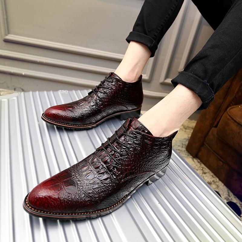 (49.97$) Buy here - glossy dress bespoke men shoes luxury brand retro  italian