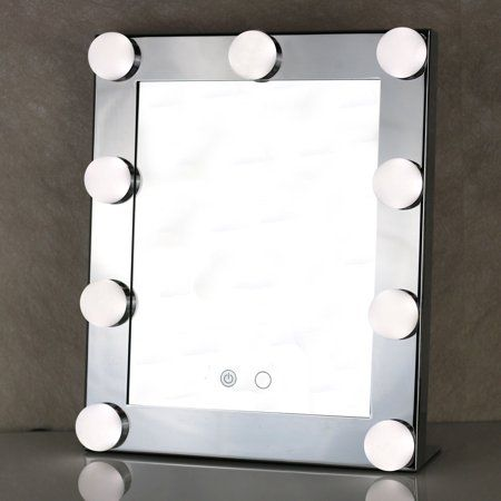 Portable Led Bulb Lighted Makeup Mirror With Dimmer Stage Us Plug