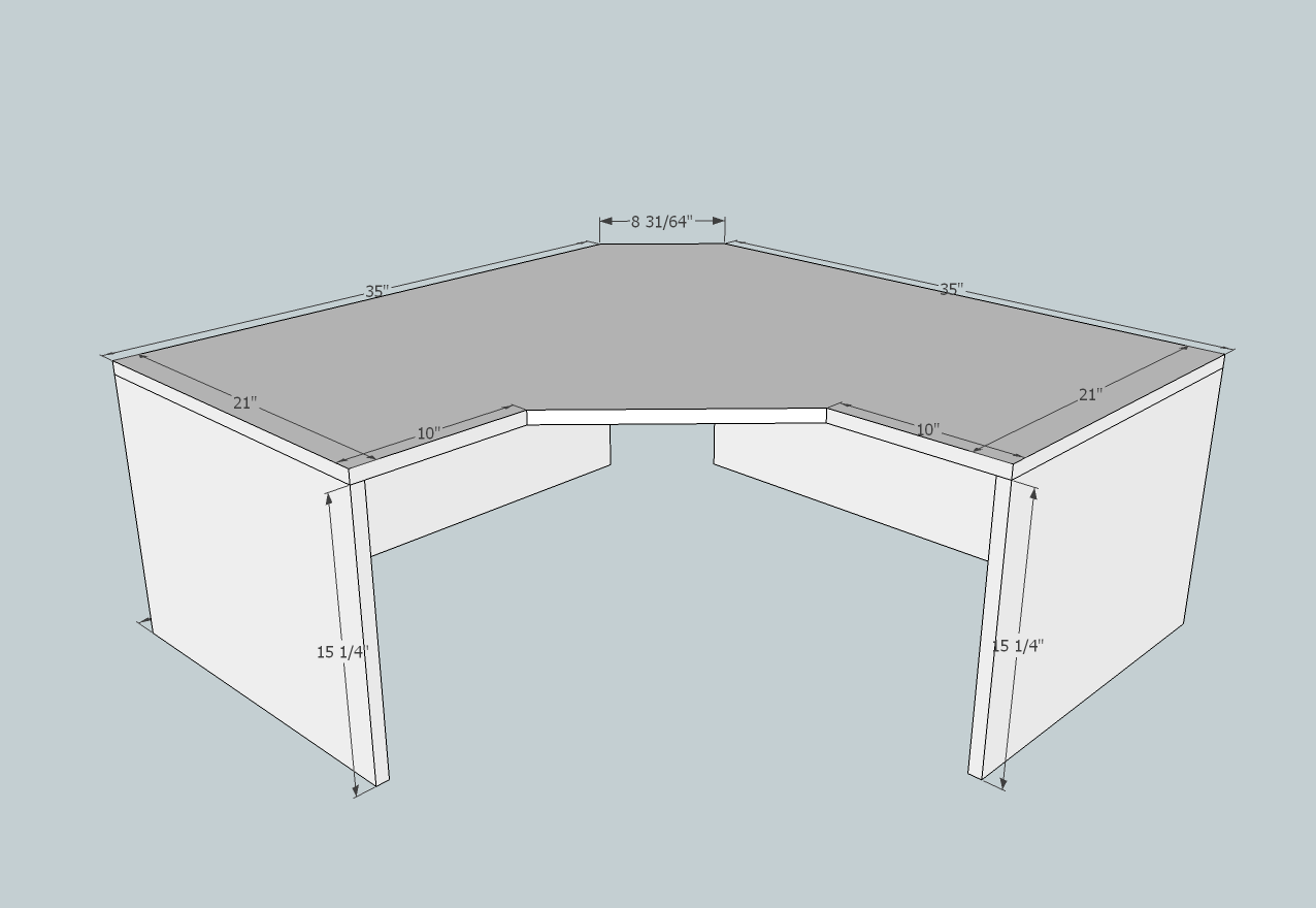 Corner Desk Plans - Corner Desk Plans Woodworking Free ...