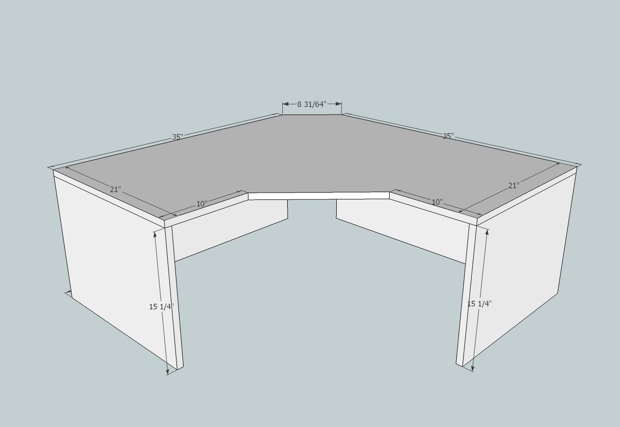 L Shaped Double X Desk Diy Desk Plans Diy Office Desk Diy Furniture