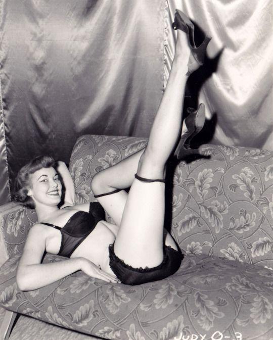 women nude in retro lingerie Vintage