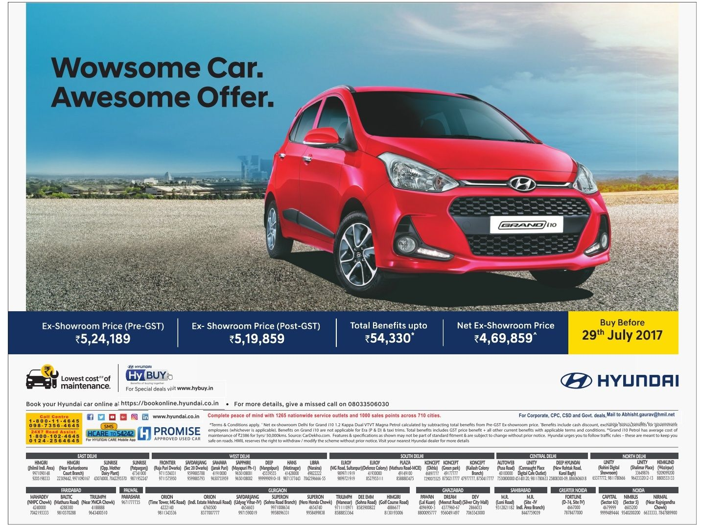 Hyundai Grand I10 Car Wowsome Car Ad Car Ads Car Advertising