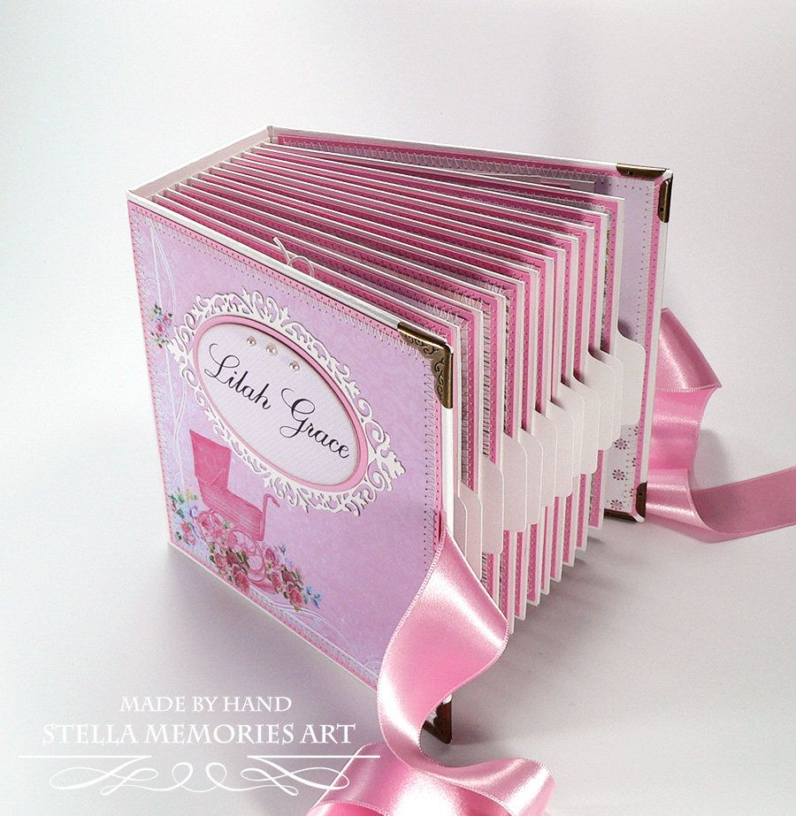 Custom Baby Girl Scrapbook, Premade Baby First Year Album, Baby Girl ...