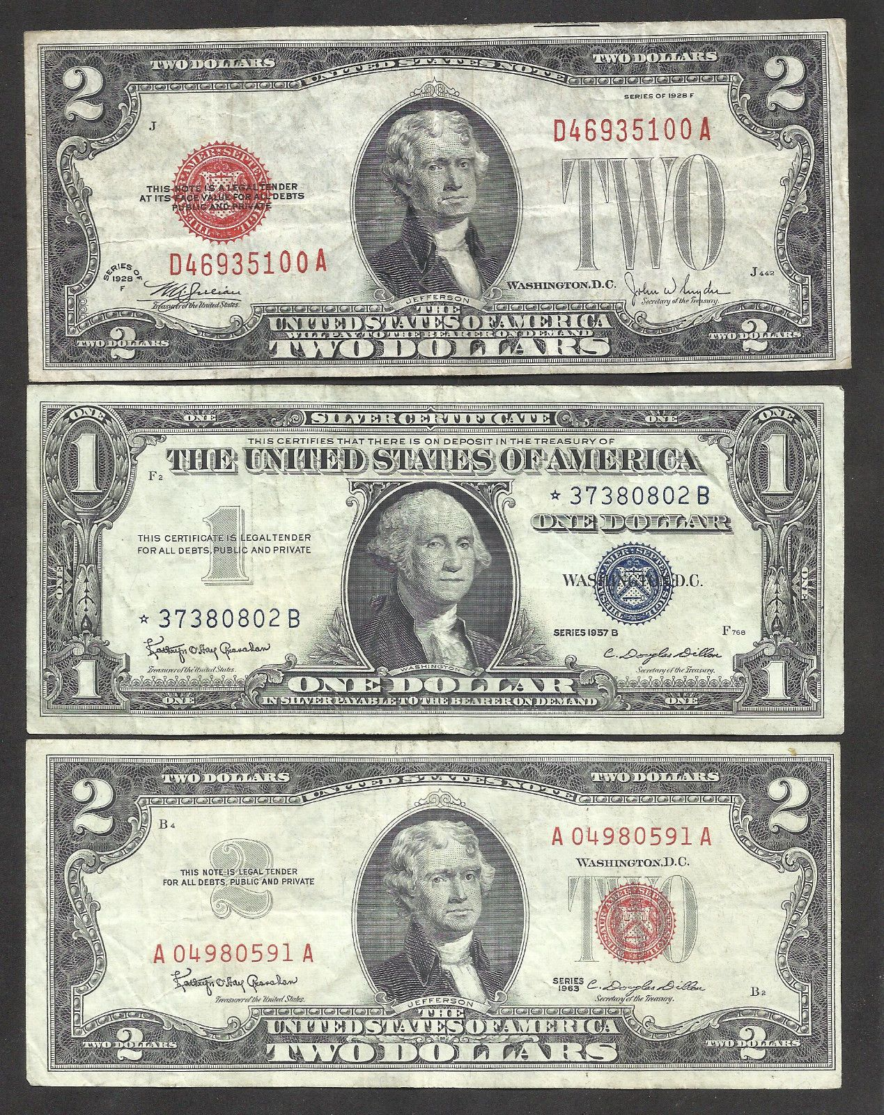 Series of 1953 $5 Five Dollar Silver Certificate Note VG-VF Old US Currency