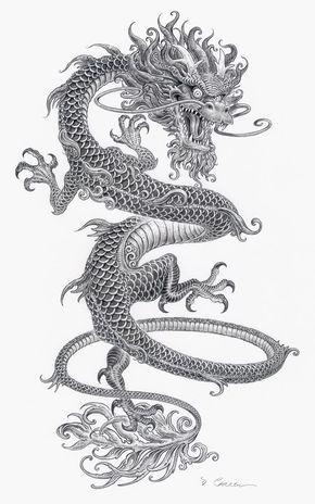 Resultado de imagen para dragon japones concept art   mandalas ...