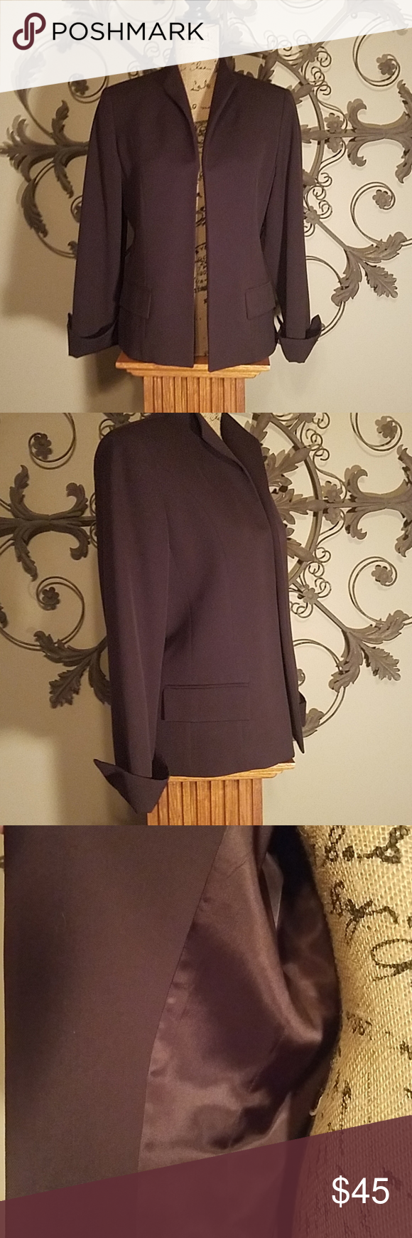 Austin Reed Wool Blazer Beauty 23 1 2 Long 3 4 Sleeves And Cuffs Fully Lined Made In The Usa Deep Eggplant Color Wool Blazer Clothes Design Jackets For Women