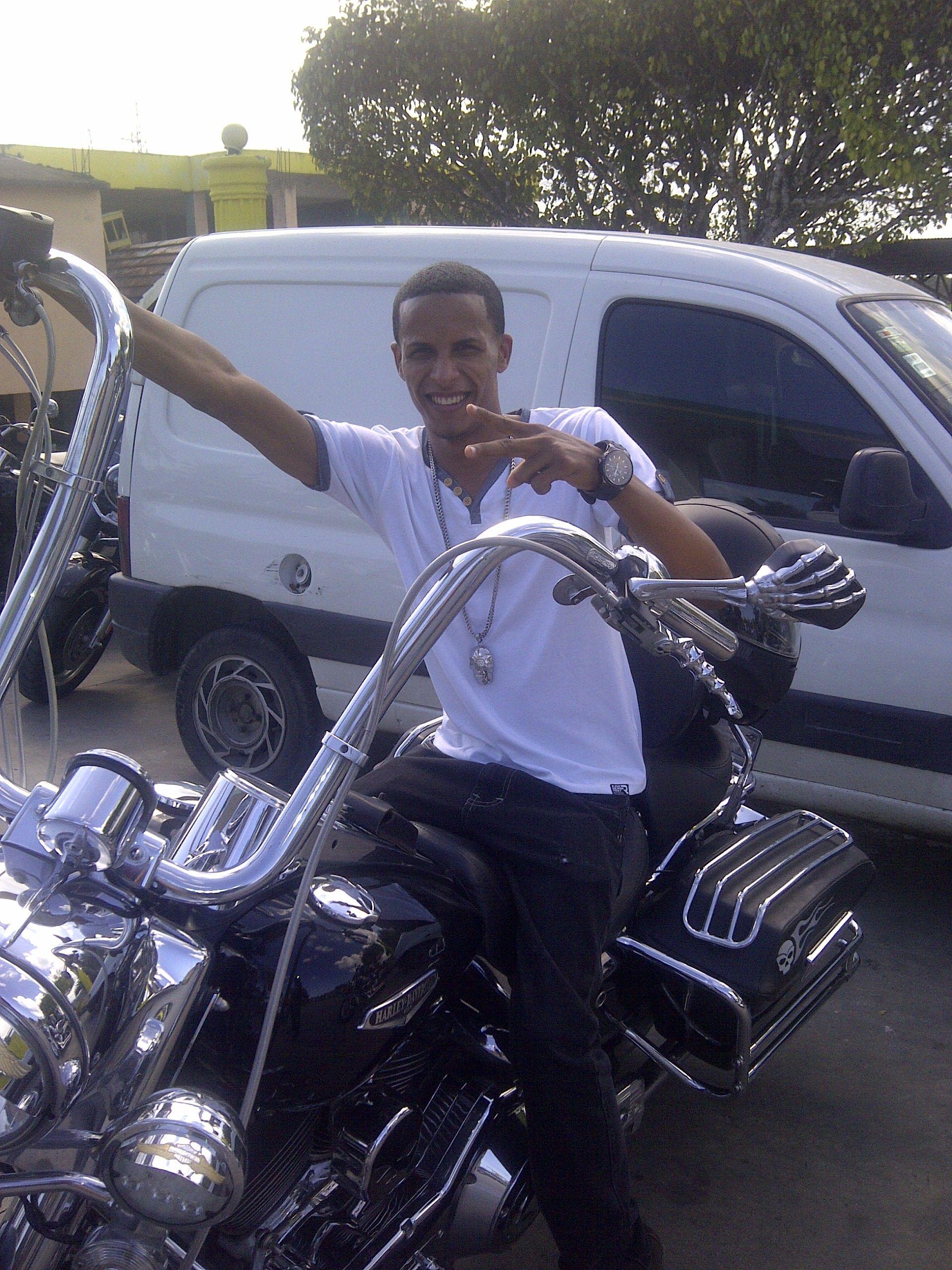 de  paseo en una moto