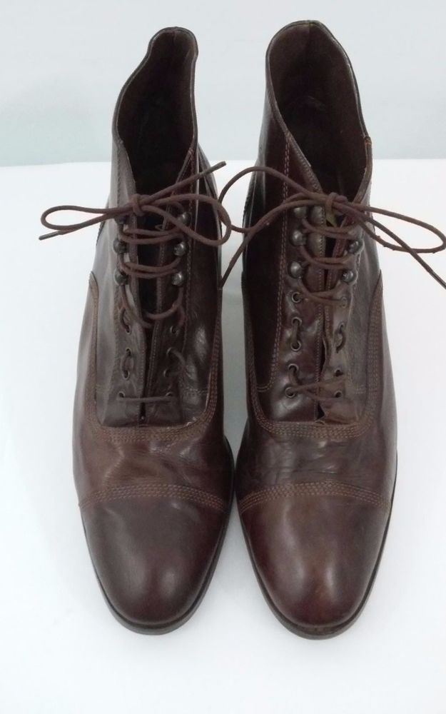 Van Eli Womens Brown Hook-Loop Ankle Boots Size 11.5 M Made in Italy #VanEli #AnkleBoots #Casual