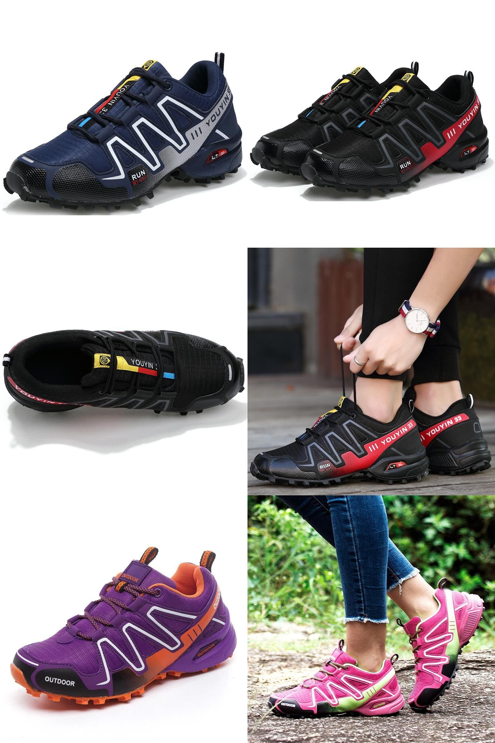 [Visit to Buy] 2017 New trainers Women Men Cheap Trail Running Shoes Speed 3