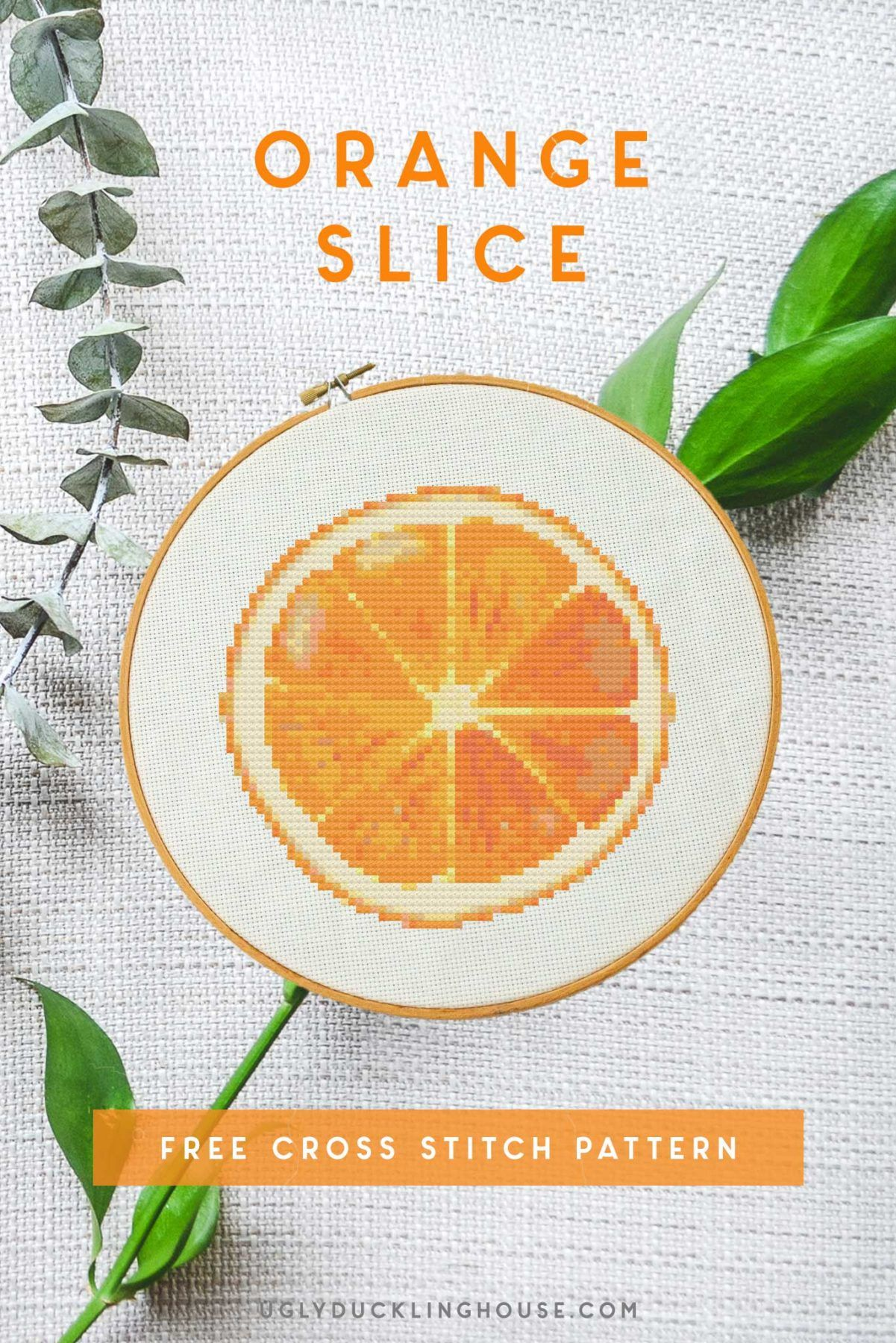 Photo of Orange Slice | Free Cross Stitch Pattern • Ugly Duckling House#cross #duckling…