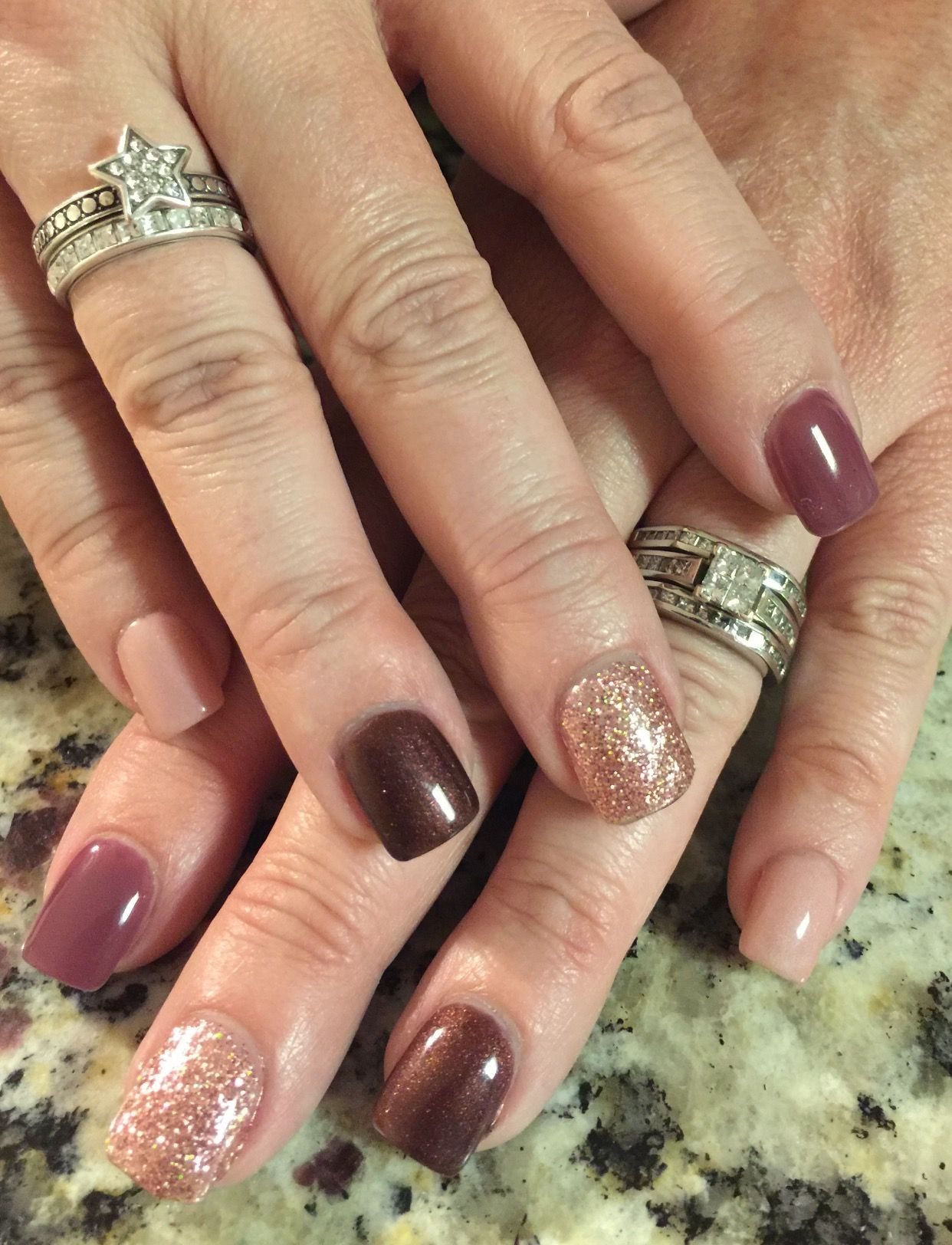 Fall nail design blended with bling! | Nails! | Pinterest