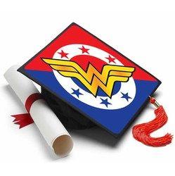 Now I'm ready to Graduate! #tasseltopper #decoratedgradcap https://www.tasseltoppers.com/#!/product/wonder-woman