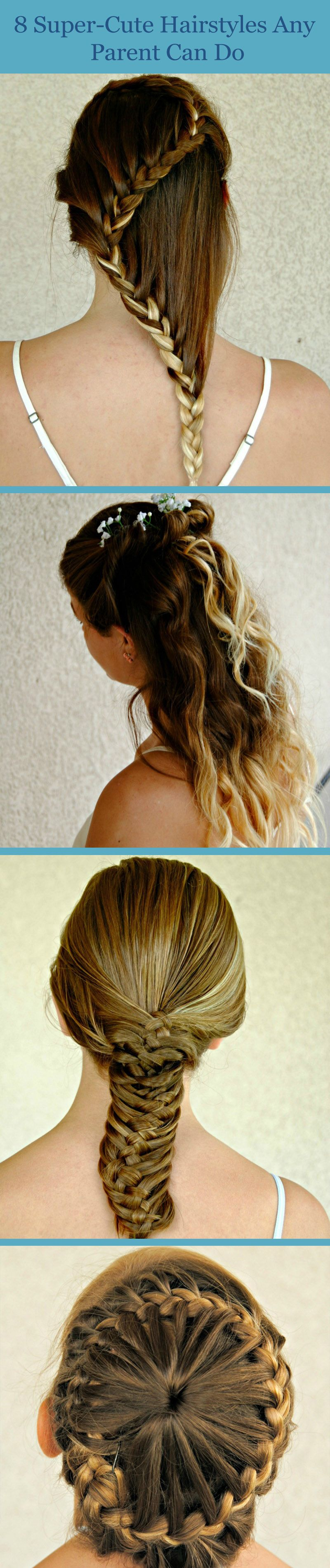 8 super-cute hairstyles any parent can do themselves   hair