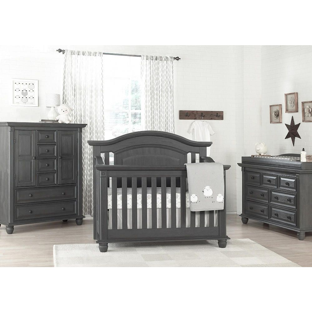 Crib for sale in palm bay - Oxford Baby London Lane 4 In 1 Convertible Crib Arctic Gray