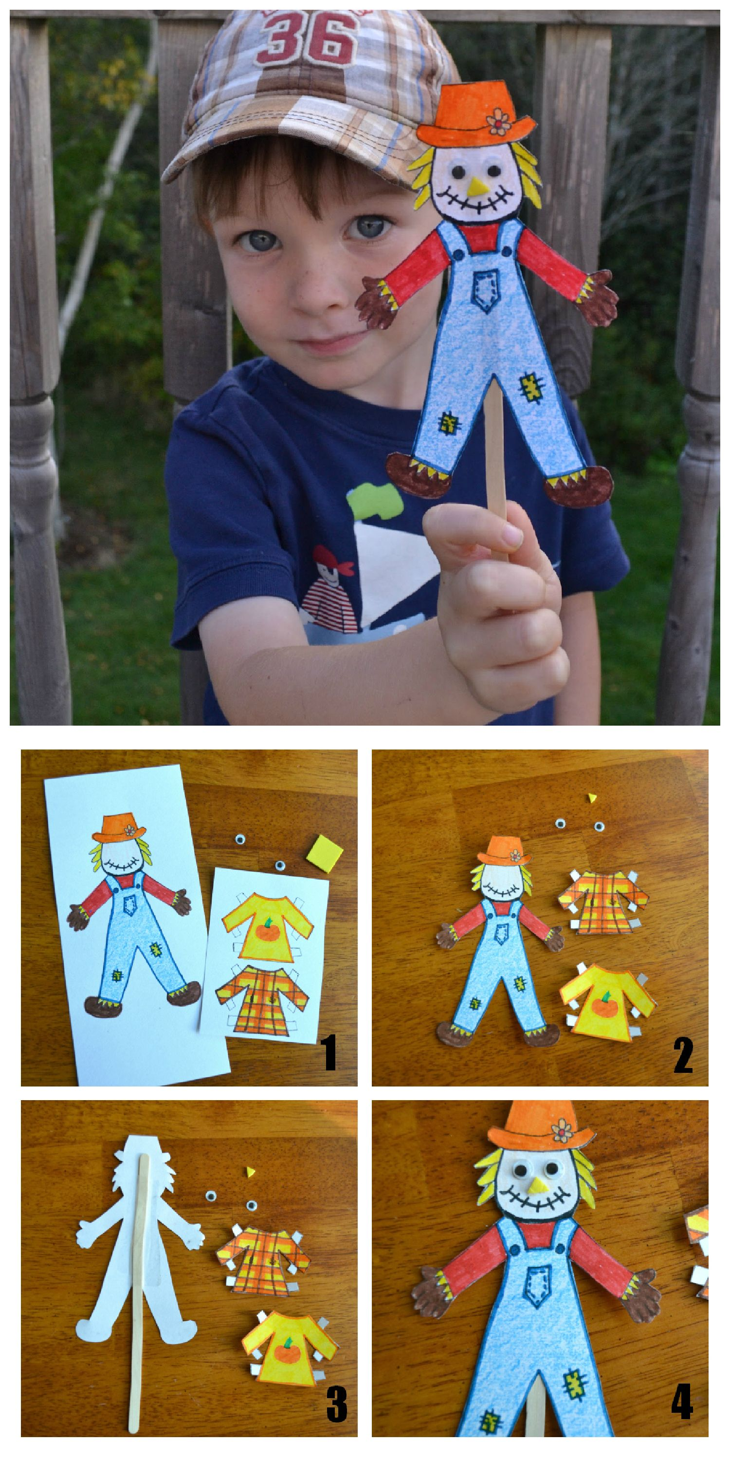Template For A Paper Doll Scarecrow