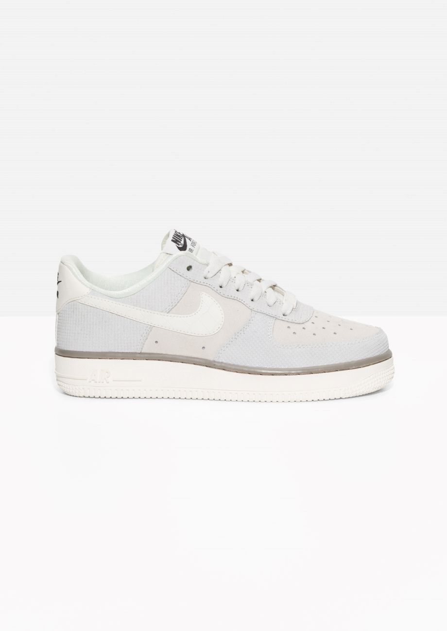 new concept 55e7c 0040e  amp  Other Stories image 1 of Nike Air Force 1 Suede in Beige Grey