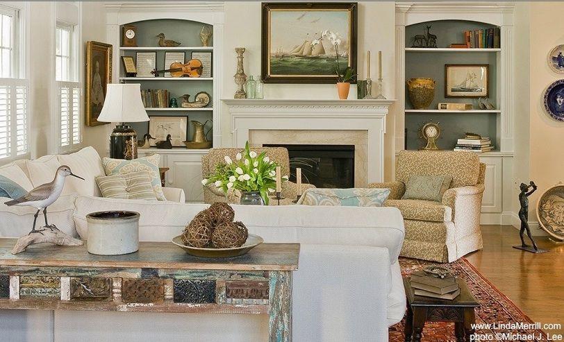 Linda Merrill Portfolio Duxbury Casual LIving Room 4 Interior Design  Massachusetts,